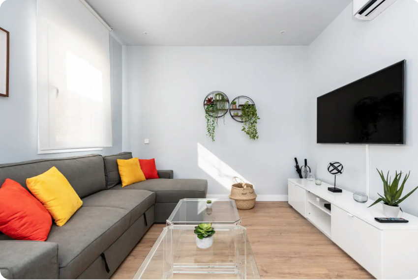 salon piso alonso cano chamberi Barbieri real estate